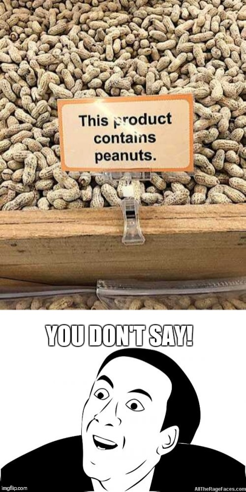 What would we do without signs | YOU DON'T SAY! | image tagged in memes,you don't say,warning sign,fail,peanuts | made w/ Imgflip meme maker