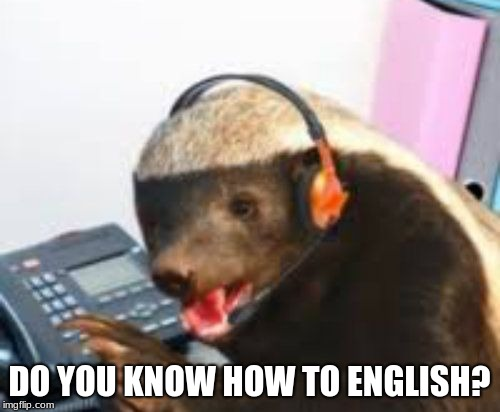 Customer Service how may I eat you | DO YOU KNOW HOW TO ENGLISH? | image tagged in customer service how may i eat you | made w/ Imgflip meme maker