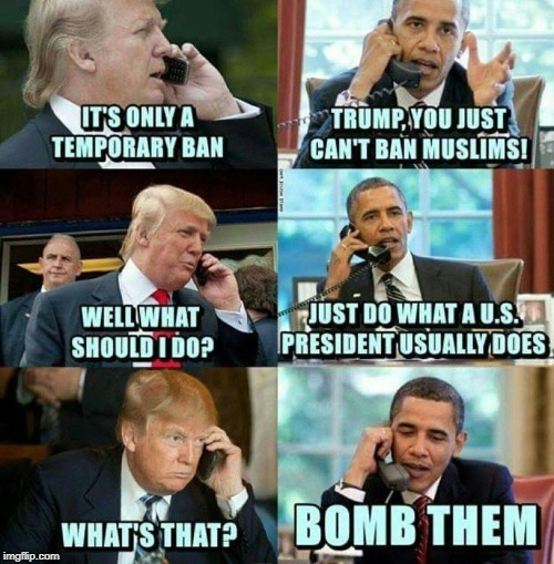 Just like any U.S. President... | image tagged in nsfw,muslim,bomb | made w/ Imgflip meme maker