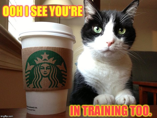 OOH I SEE YOU'RE IN TRAINING TOO. | made w/ Imgflip meme maker