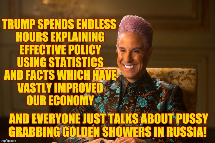 "Hunger Games/Caesar Flickerman (Stanley Tucci) ""heh heh heh"" 