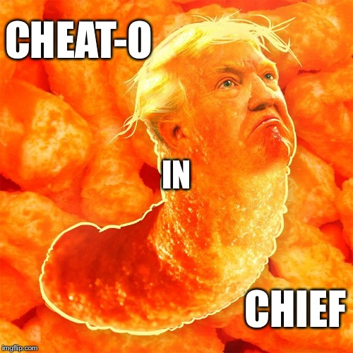 Cheat-o | CHEAT-O CHIEF IN | image tagged in potus | made w/ Imgflip meme maker