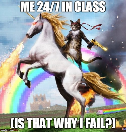 Welcome To The Internets | ME 24/7 IN CLASS (IS THAT WHY I FAIL?) | image tagged in memes,welcome to the internets | made w/ Imgflip meme maker