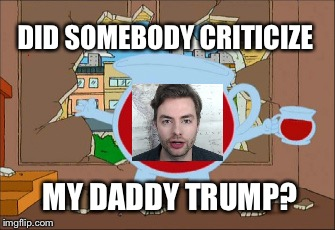 DID SOMEBODY CRITICIZE MY DADDY TRUMP? | image tagged in paul | made w/ Imgflip meme maker