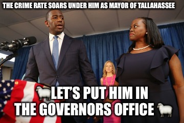 The Hollow Man | THE CRIME RATE SOARS UNDER HIM AS MAYOR OF TALLAHASSEE  | image tagged in the next obama,hollow,suit,political,political correctness,virtue | made w/ Imgflip meme maker
