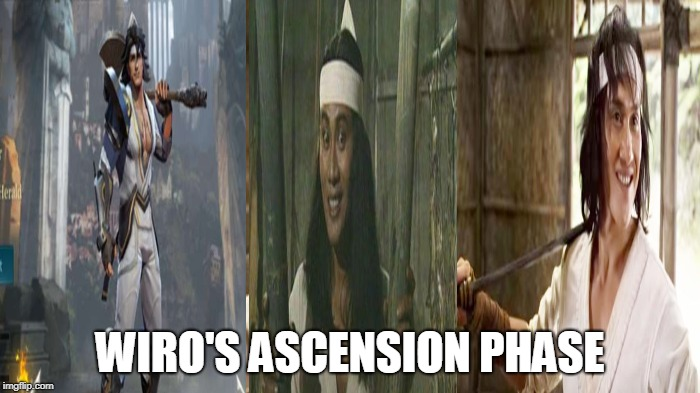 wiro's ascension |  WIRO'S ASCENSION PHASE | image tagged in ascension | made w/ Imgflip meme maker