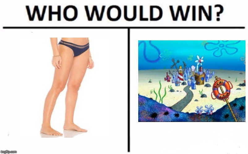 It's the Bikini Bottom! | image tagged in memes,who would win,bikini bottom | made w/ Imgflip meme maker