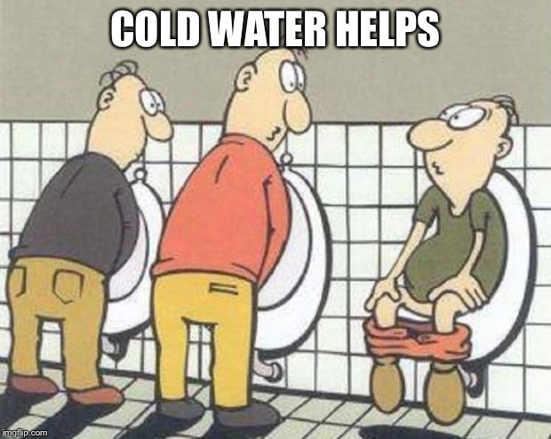 Dumbo | COLD WATER HELPS | image tagged in dumbo | made w/ Imgflip meme maker