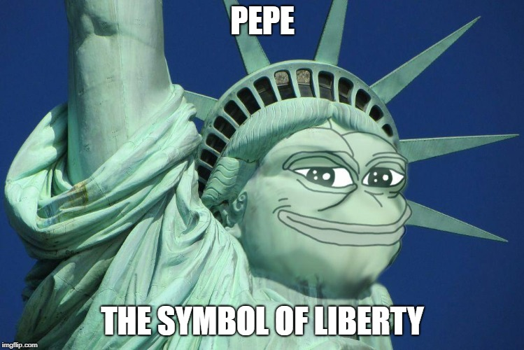 Pepe the symbol of liberty | PEPE THE SYMBOL OF LIBERTY | image tagged in pepe the symbol of liberty,pepe,memes,pepe the frog,statue of liberty,liberty | made w/ Imgflip meme maker