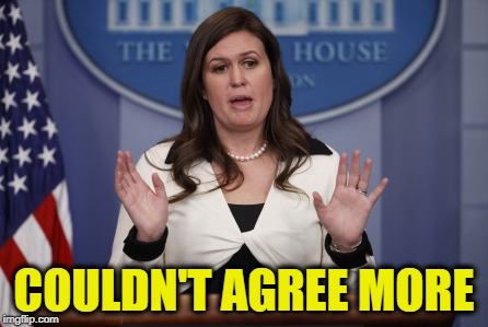 Sarah H Sanders No More Facts | COULDN'T AGREE MORE | image tagged in sarah h sanders no more facts | made w/ Imgflip meme maker