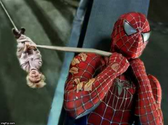 spiderman | image tagged in spiderman,sad spiderman,marvel comics,marvel,super hero,choke | made w/ Imgflip meme maker