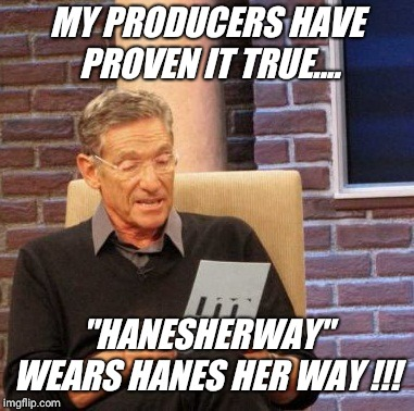 "It's ""Hanesherway"" username day !! 