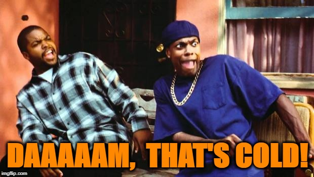 Ice Cube Damn | DAAAAAM,  THAT'S COLD! | image tagged in ice cube damn | made w/ Imgflip meme maker