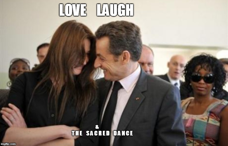 love laugh and the sacred dance | image tagged in romance,couple,romantic | made w/ Imgflip meme maker