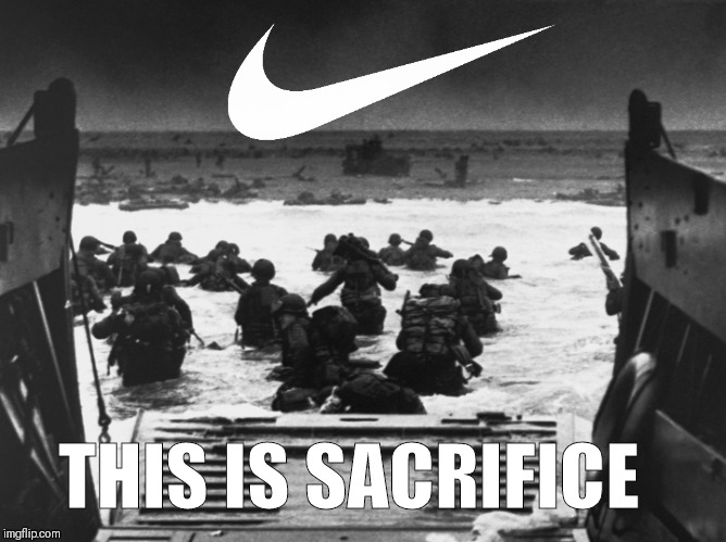 Sacrifice eh?  | THIS IS SACRIFICE | image tagged in nike,colin kaepernick,first world problems,nfl,retarded liberal protesters,take a knee | made w/ Imgflip meme maker