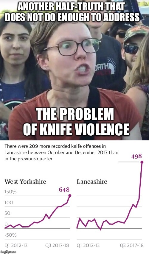 ANOTHER HALF-TRUTH THAT DOES NOT DO ENOUGH TO ADDRESS THE PROBLEM OF KNIFE VIOLENCE | made w/ Imgflip meme maker