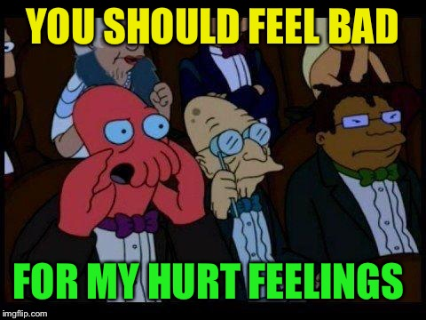You Should Feel Bad Zoidberg Meme | YOU SHOULD FEEL BAD FOR MY HURT FEELINGS | image tagged in memes,you should feel bad zoidberg | made w/ Imgflip meme maker