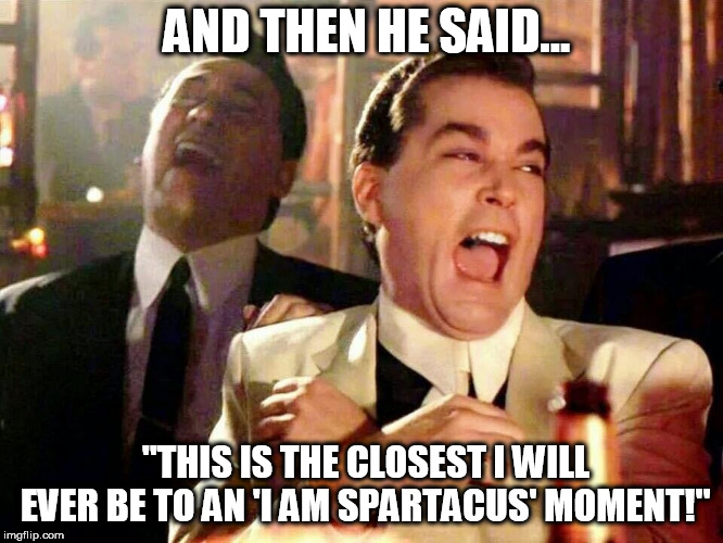"Cory Booker's Spartacus Moment | AND THEN HE SAID... ""THIS IS THE CLOSEST I WILL EVER BE TO AN 'I AM SPARTACUS' MOMENT!"" 