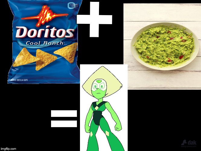 + = | image tagged in steven universe,peridot,doritos | made w/ Imgflip meme maker