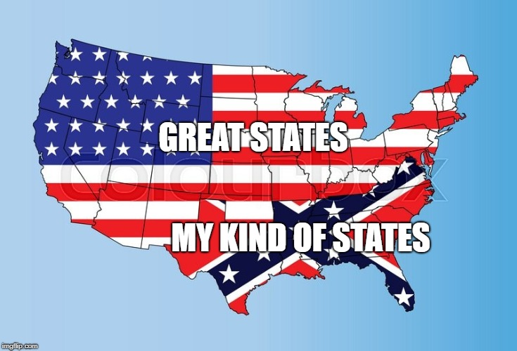 America/Confederacy | GREAT STATES MY KIND OF STATES | image tagged in america/confederacy | made w/ Imgflip meme maker