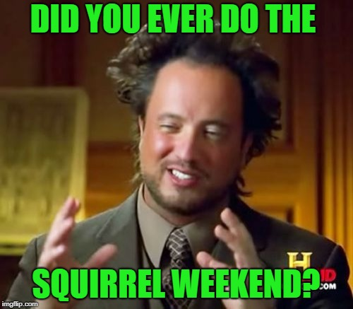 Ancient Aliens Meme | DID YOU EVER DO THE SQUIRREL WEEKEND? | image tagged in memes,ancient aliens | made w/ Imgflip meme maker