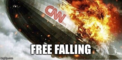 FREE FALLING | image tagged in cnn blimp | made w/ Imgflip meme maker
