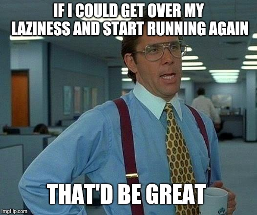 That Would Be Great Meme | IF I COULD GET OVER MY LAZINESS AND START RUNNING AGAIN THAT'D BE GREAT | image tagged in memes,that would be great | made w/ Imgflip meme maker