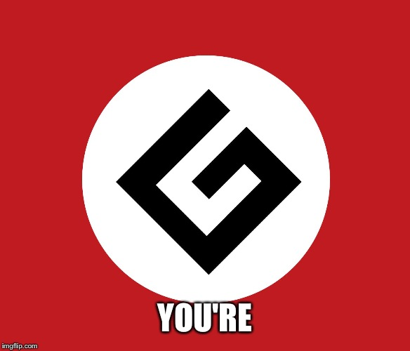 Grammar Nazi flag | YOU'RE | image tagged in grammar nazi flag | made w/ Imgflip meme maker