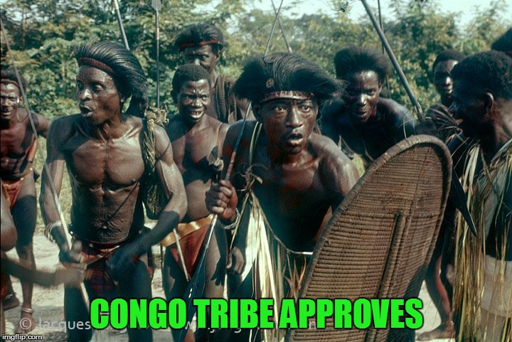 Congo Tribe | CONGO TRIBE APPROVES | image tagged in congo tribe | made w/ Imgflip meme maker