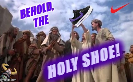 Product Placement at its Finest | image tagged in nike swoosh,monty python,life of brian,take a knee | made w/ Imgflip meme maker