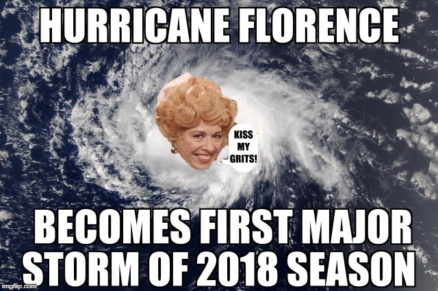US to Kiss Flo's Grits | image tagged in mels diner hurricane flo florence alice | made w/ Imgflip meme maker