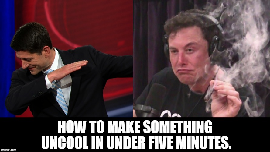HOW TO RUIN THINGS | HOW TO MAKE SOMETHING UNCOOL IN UNDER FIVE MINUTES. | image tagged in humor,paul ryan,elon musk | made w/ Imgflip meme maker