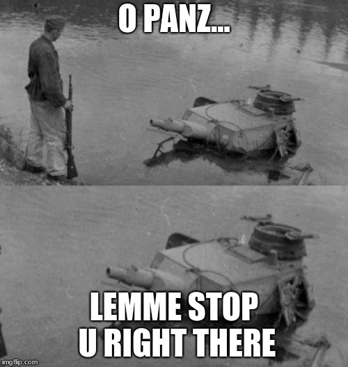 Panzer of the lake | O PANZ... LEMME STOP U RIGHT THERE | image tagged in panzer of the lake | made w/ Imgflip meme maker