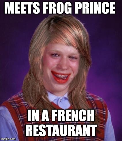 MEETS FROG PRINCE IN A FRENCH RESTAURANT | made w/ Imgflip meme maker