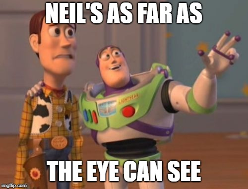 X, X Everywhere Meme | NEIL'S AS FAR AS THE EYE CAN SEE | image tagged in memes,x x everywhere | made w/ Imgflip meme maker