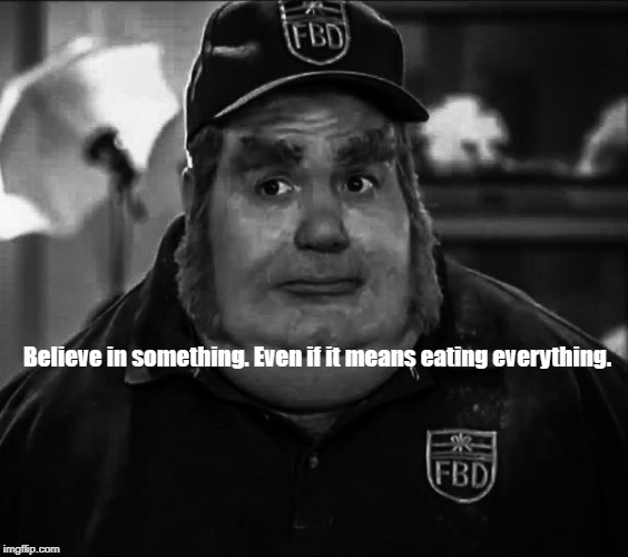 Nike Fatbasturd | Believe in something. Even if it means eating everything. | image tagged in nike,fat bastard,believe | made w/ Imgflip meme maker