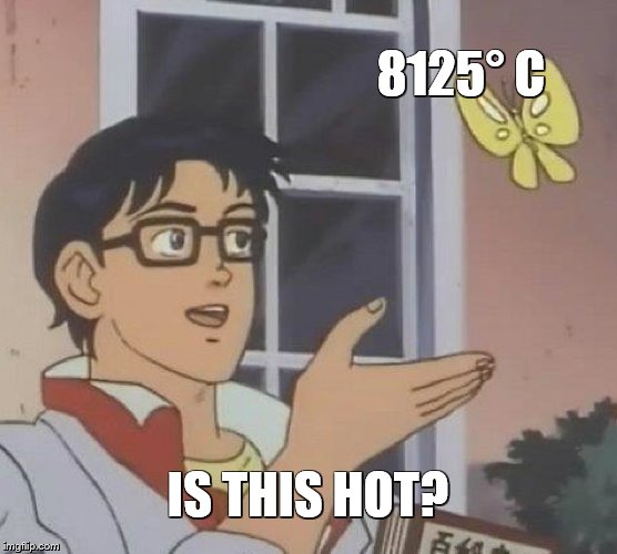 Is This A Pigeon Meme | 8125° C IS THIS HOT? | image tagged in memes,is this a pigeon | made w/ Imgflip meme maker