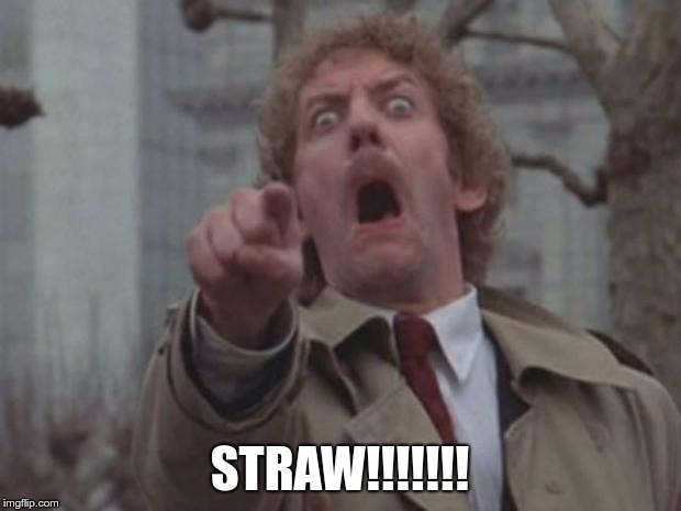 STRAW!!!!!!! | image tagged in body snatcher | made w/ Imgflip meme maker