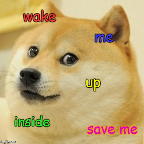 wake me up | wake me up inside save me | image tagged in memes,doge,wake me up inside,save me,google most random picture ever you will have fun,well this is awkward | made w/ Imgflip meme maker