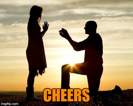 Proposal  | CHEERS | image tagged in proposal | made w/ Imgflip meme maker