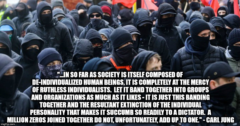 """...IN SO FAR AS SOCIETY IS ITSELF COMPOSED OF DE-INDIVIDUALIZED HUMAN BEINGS, IT IS COMPLETELY AT THE MERCY OF RUTHLESS INDIVIDUALISTS.  LE 