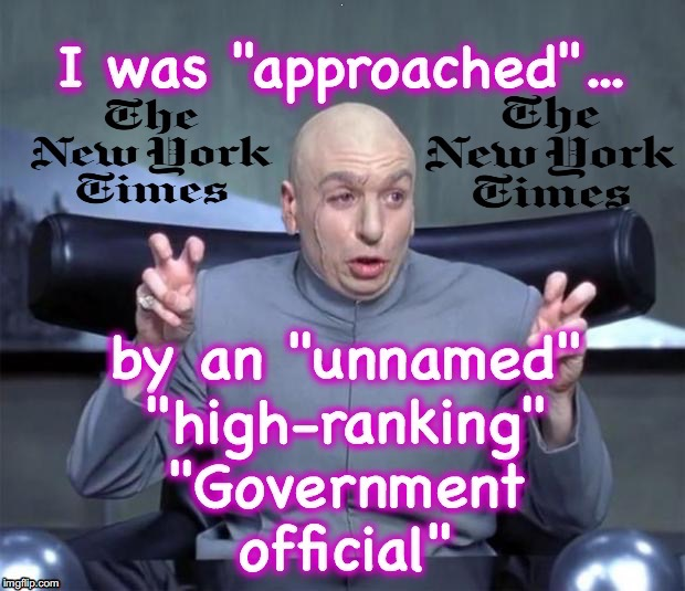 Well, if nothing else, it's a great way to try to bump up subscriptions... | B | image tagged in dr evil air quotes,new york times | made w/ Imgflip meme maker