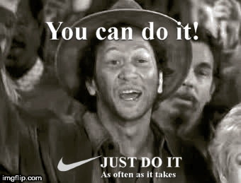 image tagged in just do it,rob schneider | made w/ Imgflip meme maker