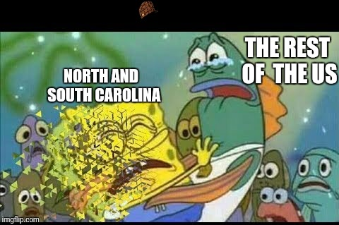 NORTH AND  SOUTH CAROLINA THE REST OF  THE US | image tagged in hurricane | made w/ Imgflip meme maker