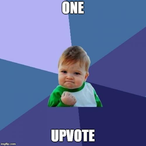 Success Kid Meme | ONE UPVOTE | image tagged in memes,success kid | made w/ Imgflip meme maker