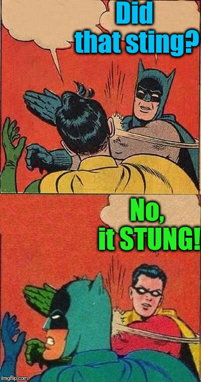 Did that sting? No, it STUNG! | made w/ Imgflip meme maker