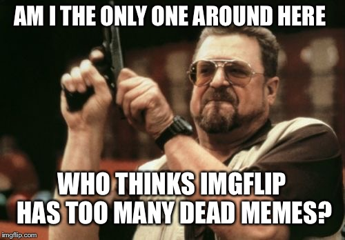 Too Many Dead Memes | AM I THE ONLY ONE AROUND HERE WHO THINKS IMGFLIP HAS TOO MANY DEAD MEMES? | image tagged in memes,am i the only one around here,dead memes | made w/ Imgflip meme maker