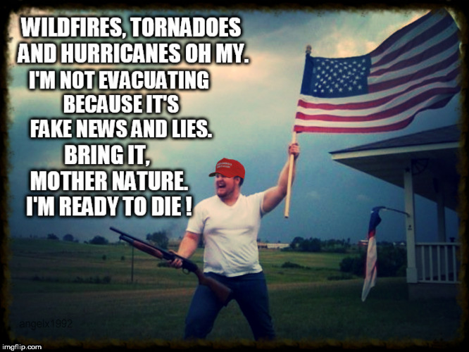 image tagged in hurricane,wildfires,disaster,fake news,lies,mother nature | made w/ Imgflip meme maker