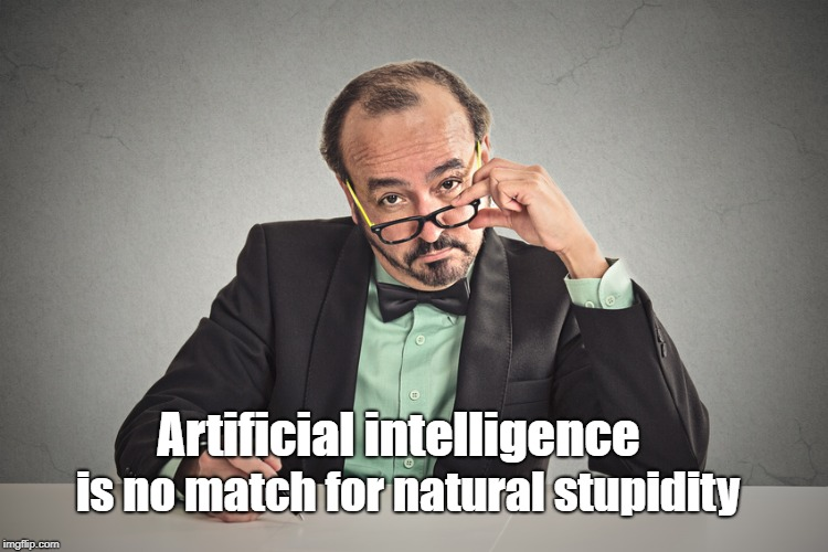 A.I vs  S.T.U.P.I.D | Artificial intelligence is no match for natural stupidity | image tagged in ai,stupid | made w/ Imgflip meme maker