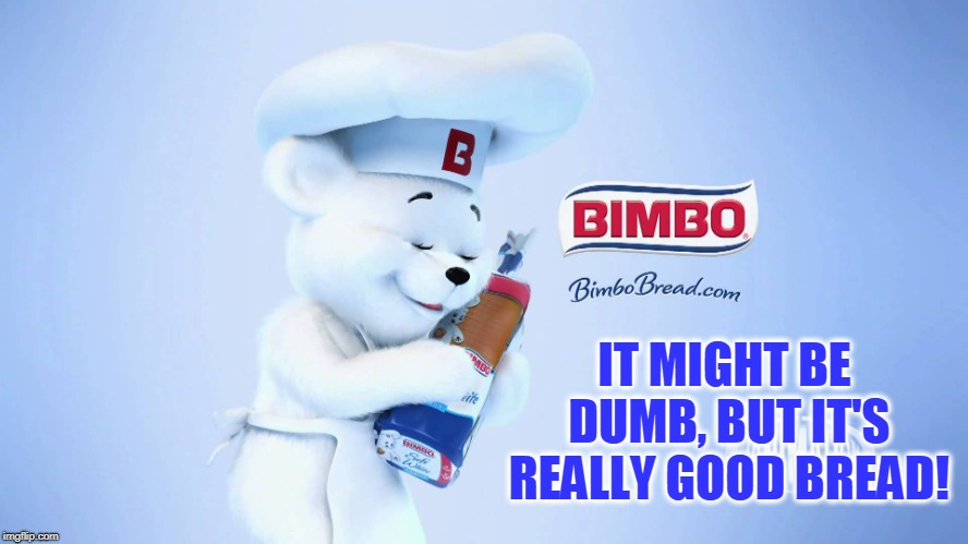I ain't got money, but I have a lotta bread! | IT MIGHT BE DUMB, BUT IT'S REALLY GOOD BREAD! | image tagged in vince vance,bimbo bread,bakery jokes,bimbo the bear,whte bread,memes | made w/ Imgflip meme maker